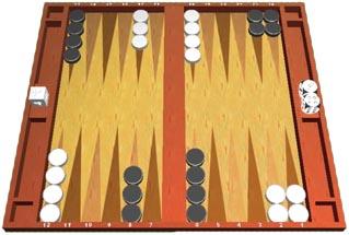 opstilling til backgammon