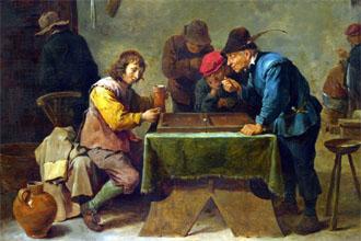 آموزش بازی تخته نرد : نگارهای قدیمی از بازی تخته نرد در اروپا